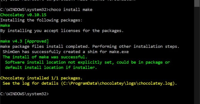 How to compile Go projects on Windows