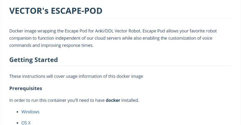 Escape Pod Docker image by cyb3rdog